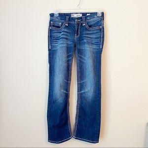 BKE Culture Boot Cut Triple Stitch Blue Jeans 28 R